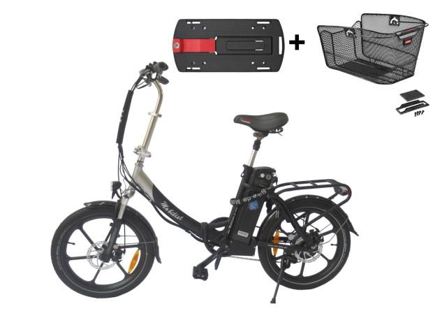 """Frühlingsaktion-Hochwertiges RSM Elektro Klappfahrrad Mobilist 20"""" E- Bike Pedelec mit TÜV Zertifikat Black-Edition (36V 13AH)"""
