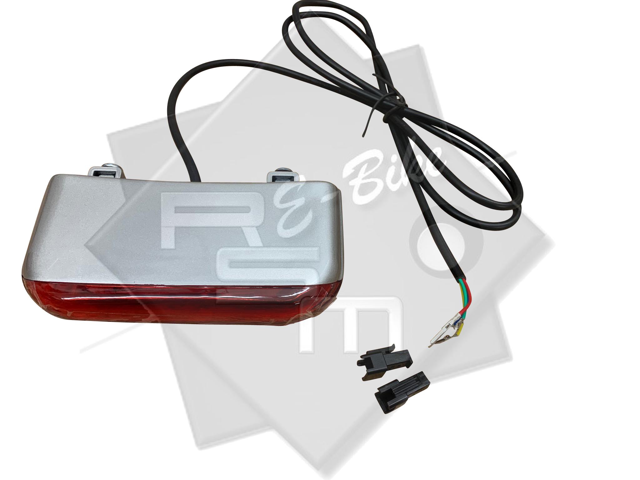 LED Rücklicht mit Bremslicht für alle Modelle Mobilist Klappfahrrad *SILBER*