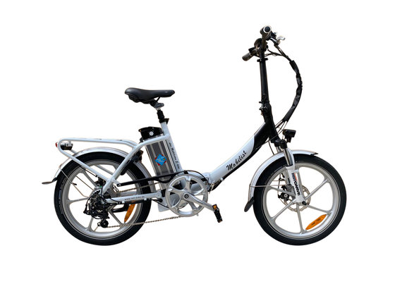 "Hochwertiges RSM Elektro Klappfahrrad Mobilist 20"" E- Bike Pedelec mit TÜV Zertifikat Farbe Weiß (36V 13AH)"