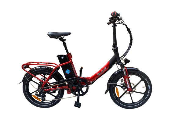 "Hochwertiges RSM Elektro Klappfahrrad Mobilist 20"" E- Bike Pedelec mit TÜV Zertifikat Sondermodell Red Star (36V 13AH)"