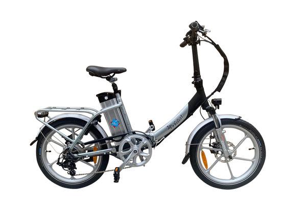 """Hochwertiges RSM Elektro Klappfahrrad Mobilist 20"""" E- Bike Pedelec mit TÜV Zertifikat Farbe Silber (36V 15,6AH)"""